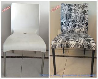 TRANSFORMAÇÃO DE CADEIRA DE PLÁSTICO; Recuperando cadeira de plástico; arte em cadeira de plástico; faça você mesmo; reforma de móveis; renovando com pouco dinheiro