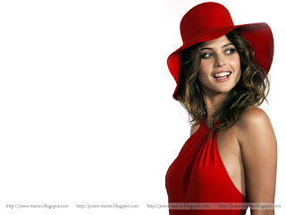 josie maran, model, actress, nymph holywood film actress, red cap, cow girl, sexy red outfit
