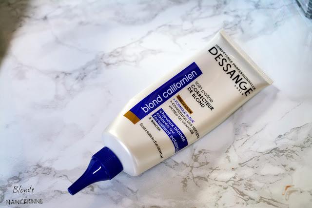 soin patine blond californien dessange avant après cheveux blonds blancs gris polaire shampooing bleu avis test revue