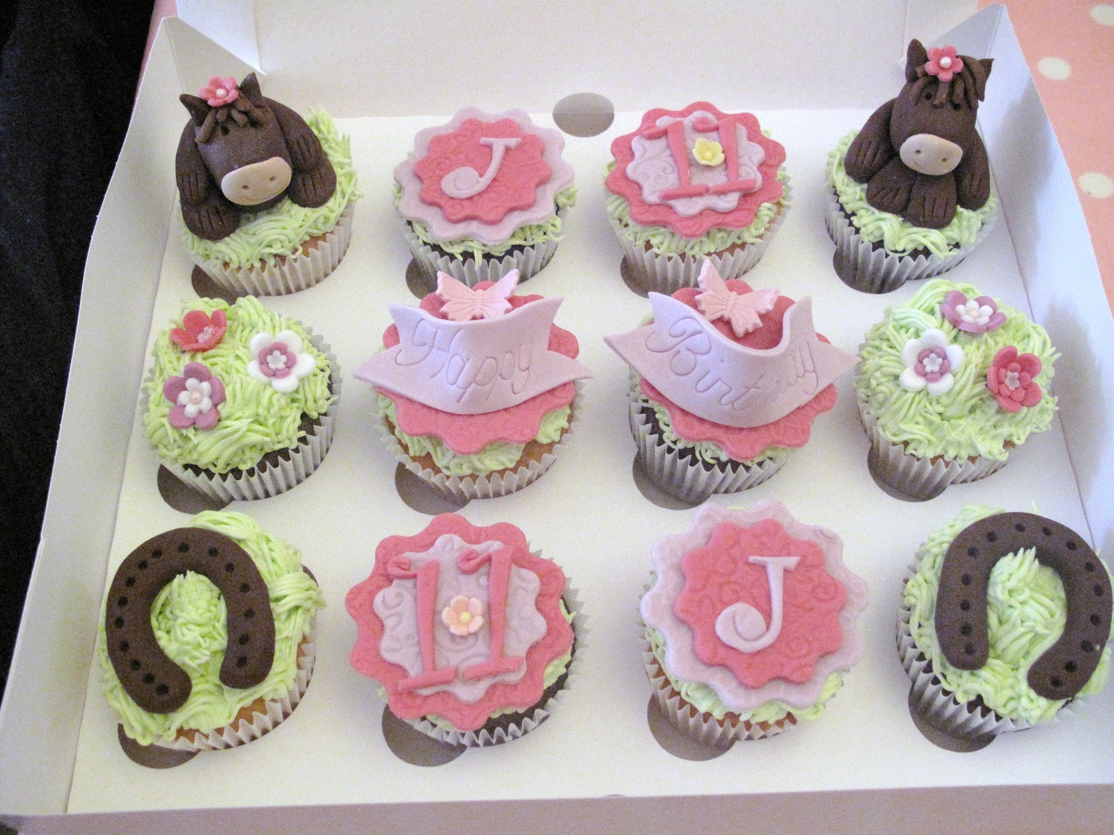 Candy Cupcake Horse Themed Birthday Cupcakes