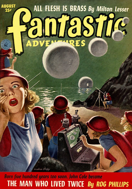 Fantastic Adventures agosto 1952 Volumen 14 número 8