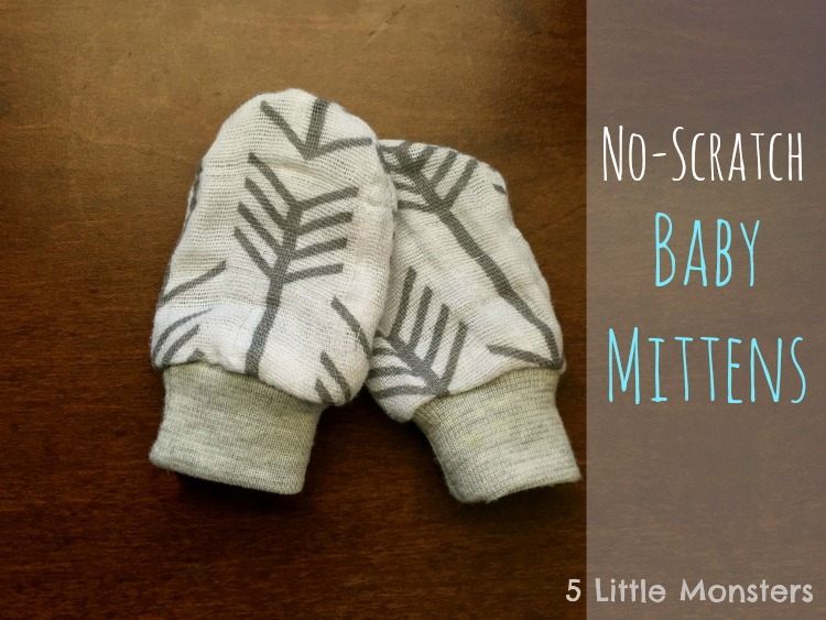e7279f7982c 5 Little Monsters  No-Scratch Baby Mittens