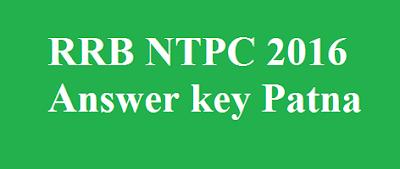 RRB NTPC Answer key Patna