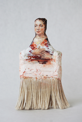 pennelli-rebecca szeto-Paintbrush Portraits-scultura-la santa furiosa
