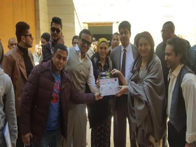 """بالفيديو- حورية فرغلي ووفاء عامر تطلقان """"الزغاريد"""" احتفالًا بـ""""براءة ريا وسكينة"""""""