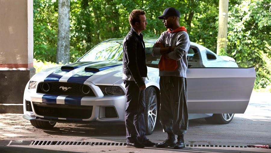 Aaron Paul şi Kid Kudi în filmul Need For Speed