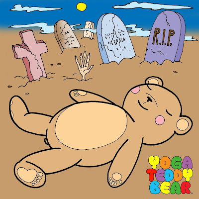Yoga Teddy Bear, yogateddybear, yogateddybeartv, yoga, savanna, halloween, yoga ed, education, cartoon, gravestones, scary