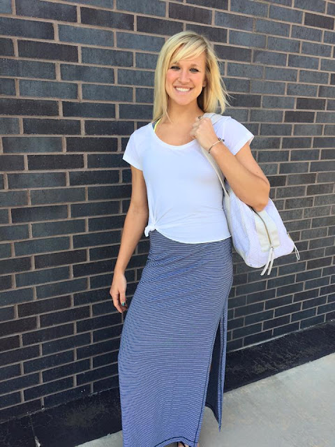 lululemon refresh-maxi-dress blue-stripe