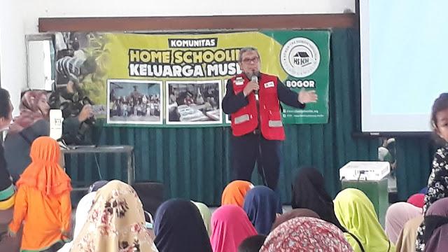 Anak-anak Home Schooling Bogor Latihan Siaga Bencana