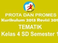 Prota dan Promes Tematik Kelas 4 SD Semester 1 Kurikulum 2013 Rev 2017