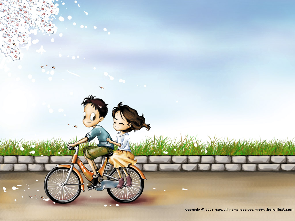 Korean Love couple Wallpaper : Bacotan si dilacious: :: cute Animated couple cartoon ~ ( ? )