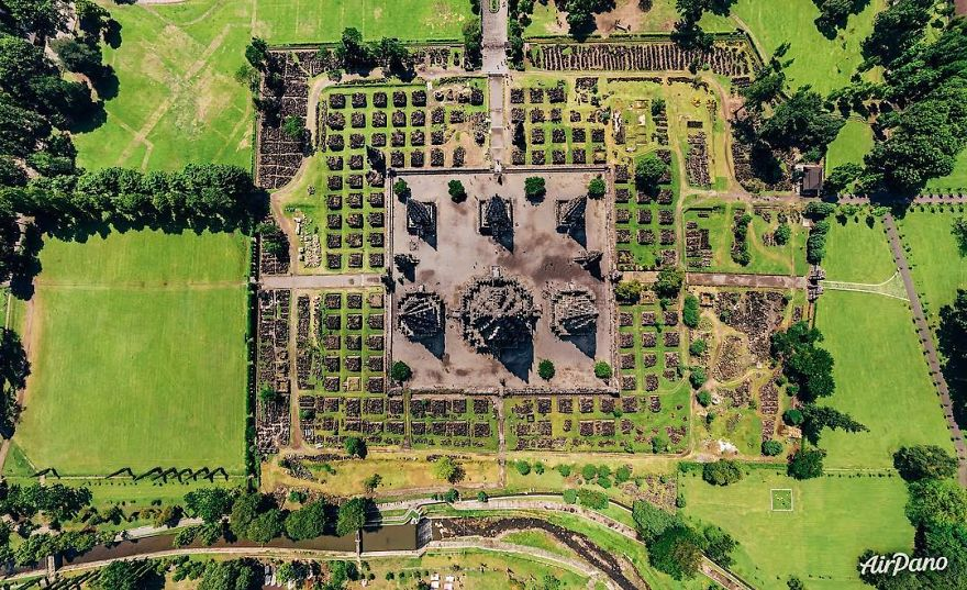 Beautiful Panoramic Pictures Of 20 Famous Cities - Prambanan, Indonesia