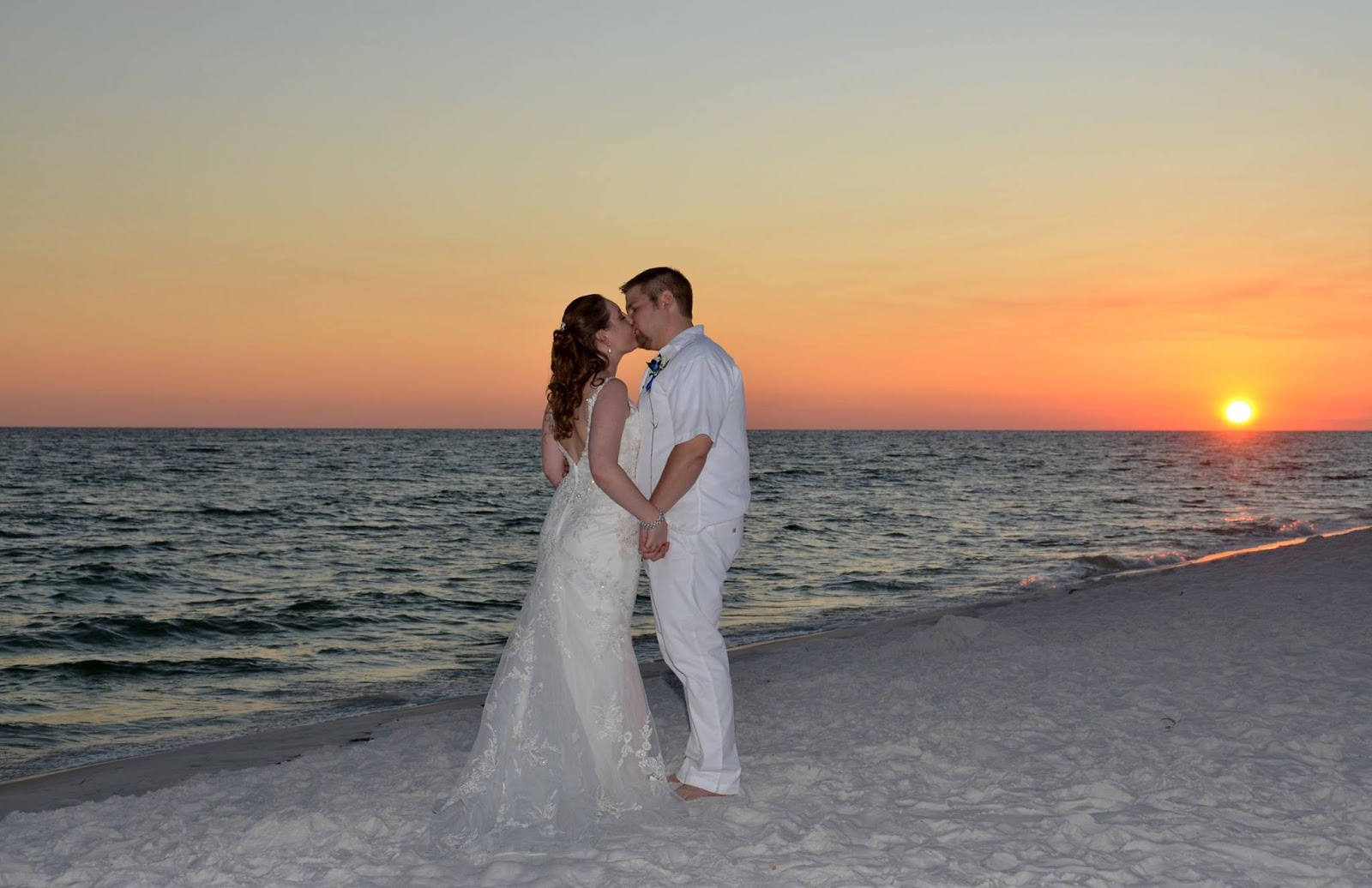 Sunset Barefoot Beach Weddings In Destin Florida