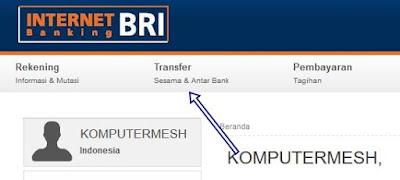 Cara Transfer Uang Lewat Internet Banking BRI ke Bank Lain