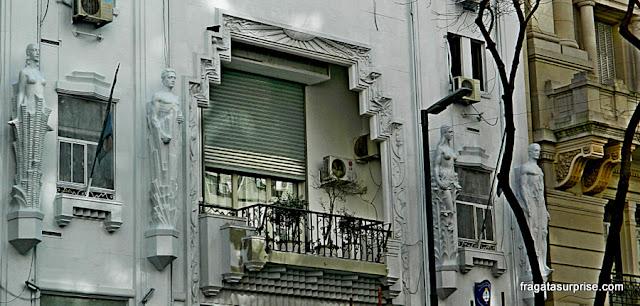 Antiga sede do jornal A Crítica, edifício art-déco na Avenida de Mayo, Buenos Aires