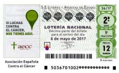 sorteo especial AECC en la loteria nacional