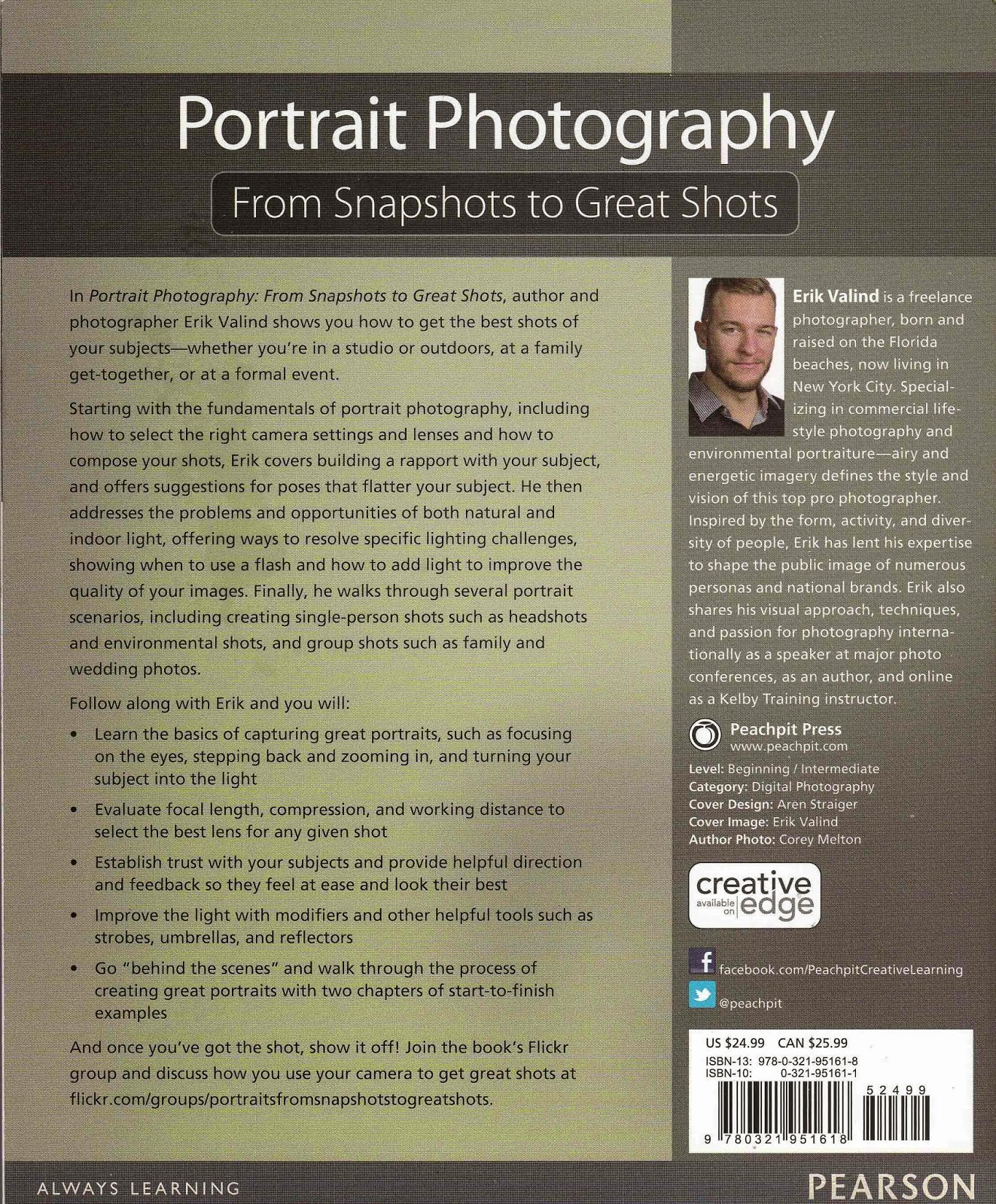 Photography Book Recommendation: Portrait Photography 'From Snapshots to Great Shots'