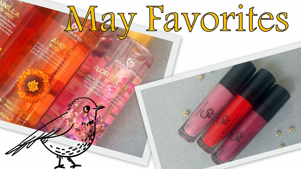 May Favorites : Equivalenza Body Mists, Brumes Corporelles Equivalenza, Golden Rose Longstay Liquid Matte Lipstick 03, 05, 09
