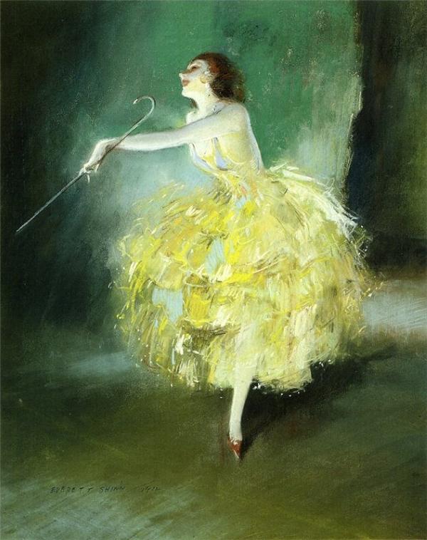 Everett Shinn - Танцовщица водевиля