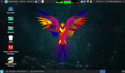 Tampilan Parrot Sec