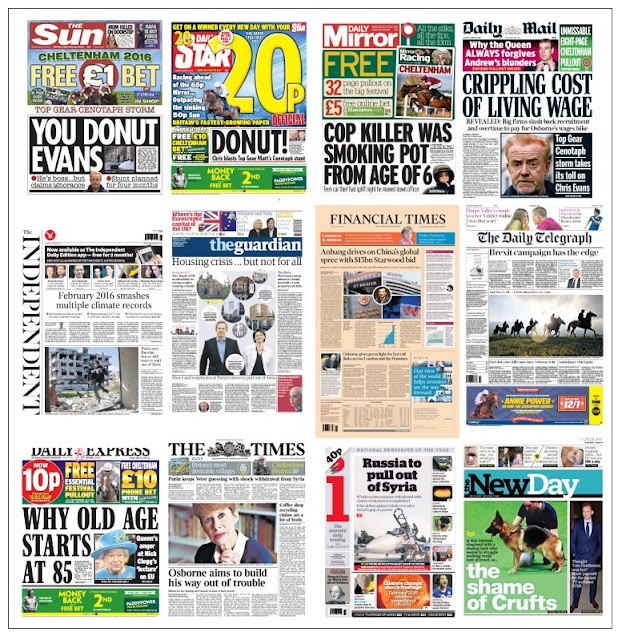 front pages 15-03-16