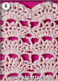 Patrón #802: Punto Calado a Crochet