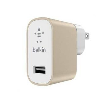 Belkin MIXIT Up 2.4A USB Home Charger in Gold