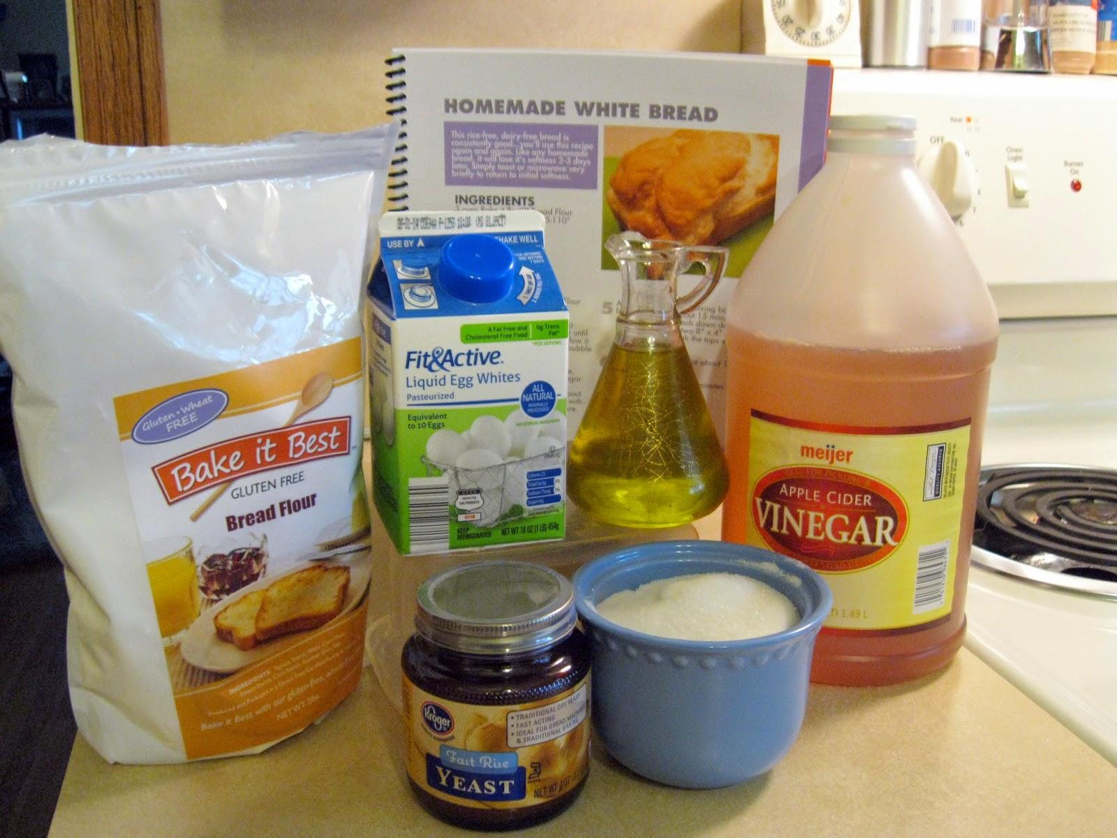 Ingredients needed to make gluten free breadsticks