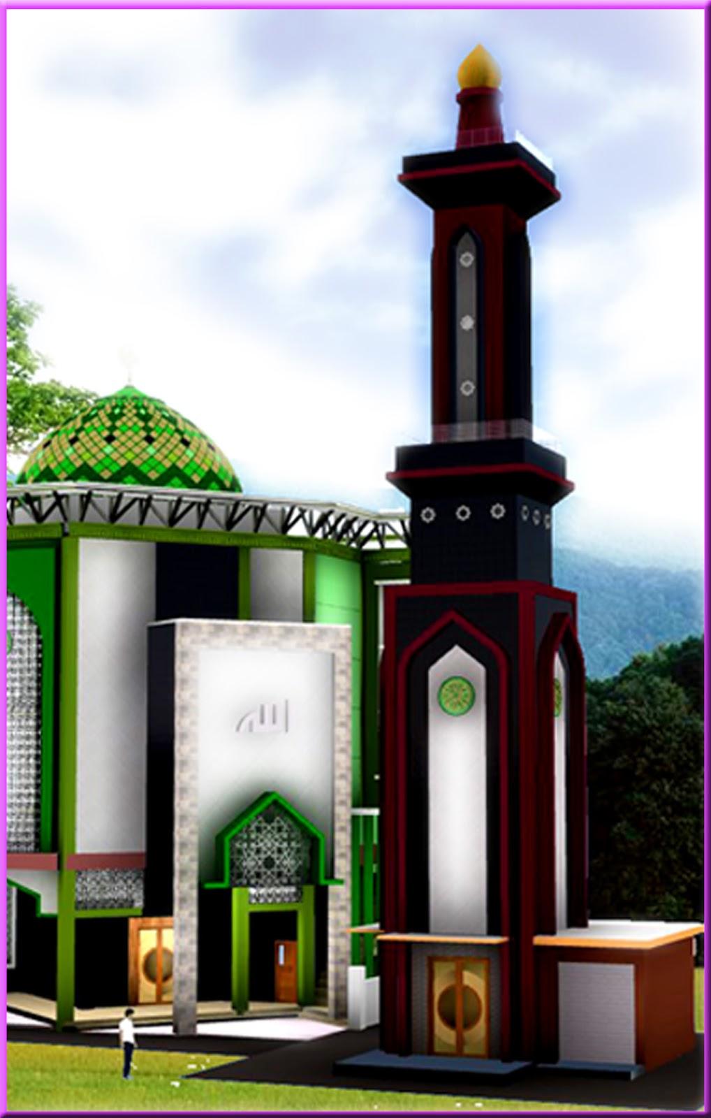 Berita Arsitek Sipil Contoh Gambar Autocad Menara Masjid Tinggi 27 M