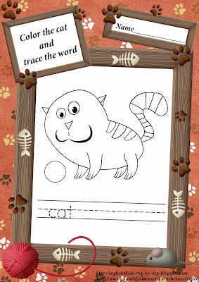 cute truthful cat missive of the alphabet c coloring
