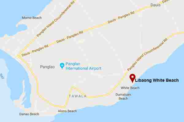 Best, peaceful and Famous tourist spots  long white beach in Libaong panglao bohol philippines 2018  Map