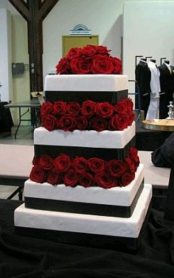 black white red wedding cake designs muyameno tortas de boda de color negro y rojo 11910