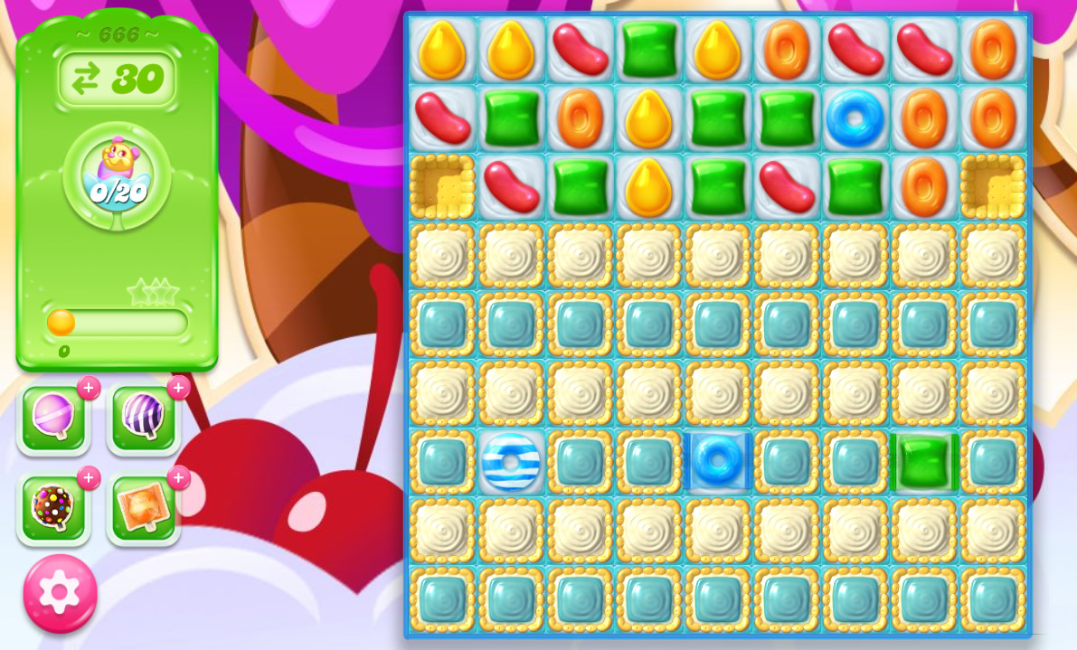 Candy Crush Jelly Saga level 666