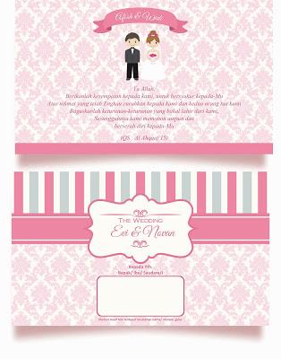 Download Gratis Desain Undangan Pernikahan Pink Ngpolv
