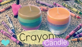 CRAYON CANDLE – How To – Home Decor – Fall Into Crafts
