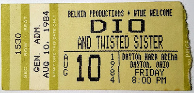 Twisted Sister opening up for the Holy Diver himself... Ronnie James DIO... August 10,1984