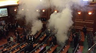In Kosovo, four deputies were given a suspended sentence for spraying tear gas in the parliament