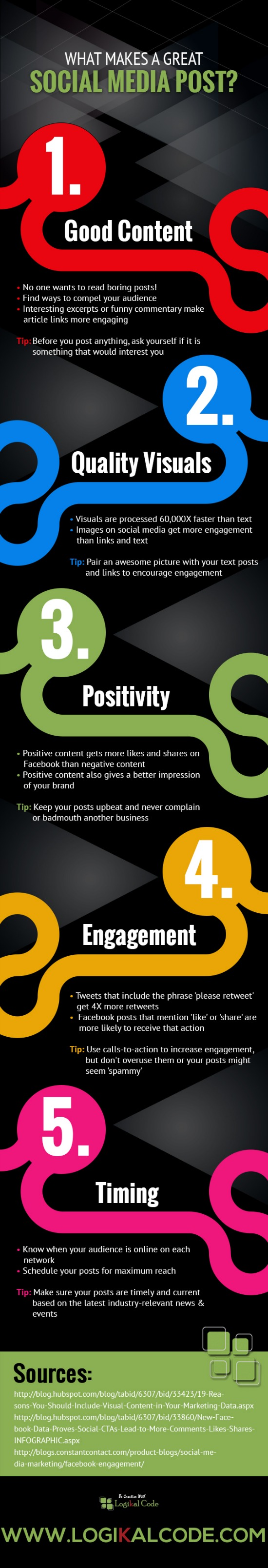 How To Create Good Social Media Posts - #infographic