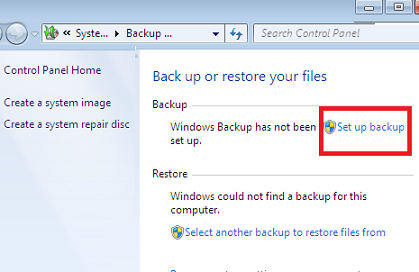 Windows 7 Backup to Network Drive