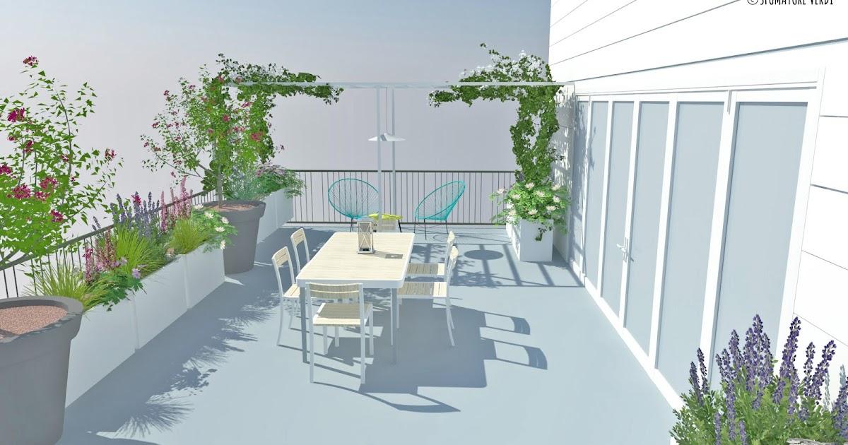 Terrazzo tra fiori e relax sfumature verdi for Alberelli da terrazzo