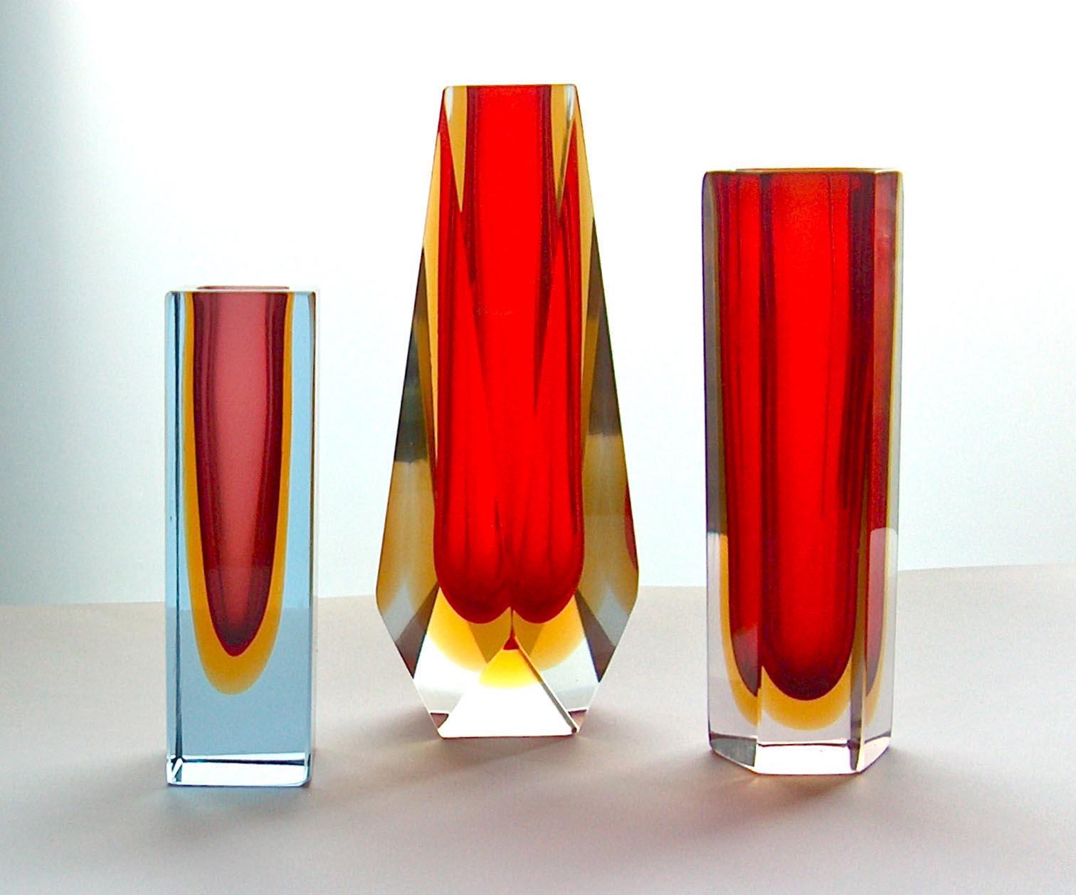 potshots murano faceted vases. Black Bedroom Furniture Sets. Home Design Ideas