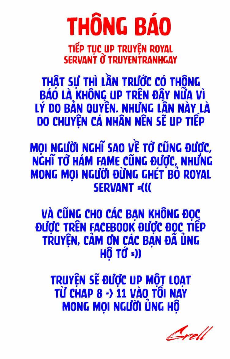 [ Thông báo ] Người hầu hoàng gia - Royal Servant - Trang 2