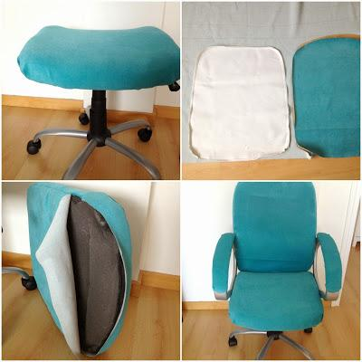 Diy tapizar una silla de ordenador my kitsch world for Tapizar sillas de madera