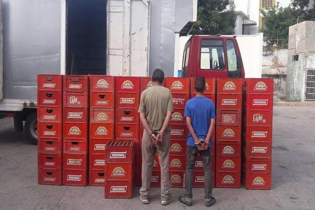 Detenidos por llevarse 241 cajas de cerveza Regional a Colombia