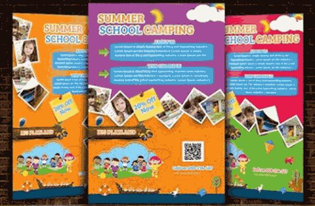 Flyer   فلاير    مجموعة فلايرز بصيغة PSD  للأطفال لاعلانات وتصميمات الروضات الدعائية مصصمين الدعاية والاعلان