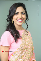 Actress Ritu Varma Pos in Beautiful Pink Anarkali Dress at at Keshava Movie Interview .COM 0140.JPG