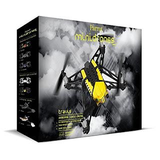Minidrone Parrot Airbone Cargo Travis, color negro y amarillo