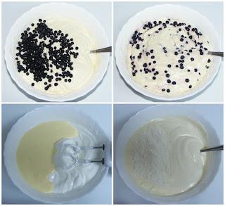 preparare prajitura chec cu afine de padure, preparare prajituri, preparare deserturi, retete cu fructe de padure, retete culinare,