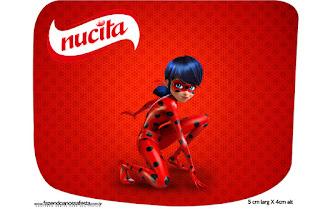 Etiqueta Nucita de Prodigiosa Ladybug para imprimir gratis.  Etiquetas de Prodigiosa Ladybug para imprimir gratis. Funda para CD's para imprimir gratis de Prodigiosa Ladybug.