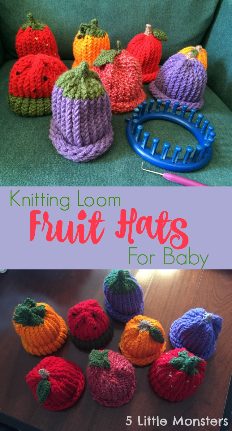 Loom Knit Hat With Brim